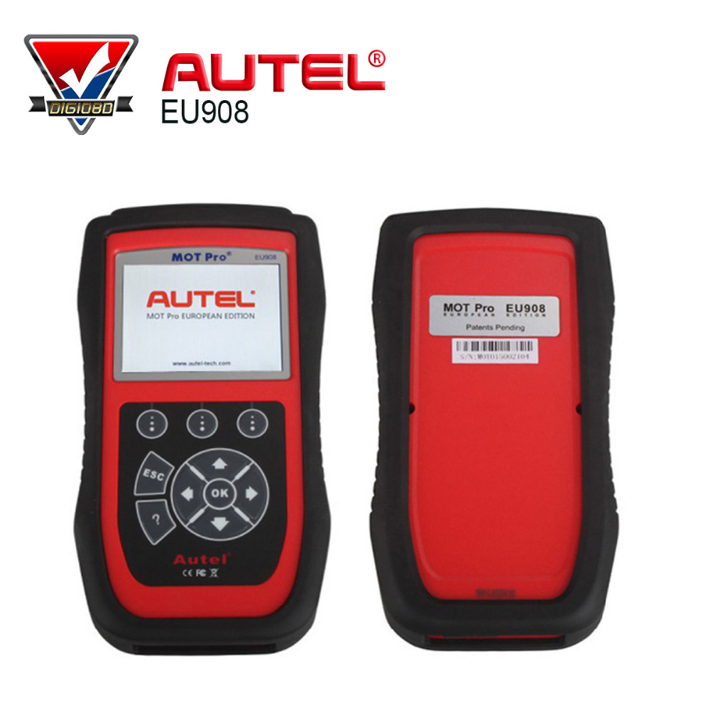 100% Autel MOT Pro EU908 Scanner with Multi-Functions MOT Pro Diagnostic Scanner EU908 Work on Domestic, Asian & European Cars(China (Mainland))