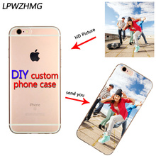 Custom DIY LOGO Design Photo Case for iPhone 5 5S 6 6S 6Plus 7 Soft Silicon TPU Back Cover Customized Printed Mobile Phone Cases(China)