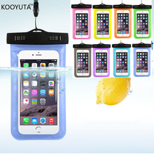 10PCS/LOT Hot sale Transparent  Waterproof Underwater Pouch Dry Bag Case Cover For iPhone 7 Cell Phone Touchscreen  Mobile Phone