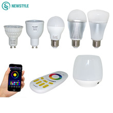 Mi Light Dimmable Led Bulb 4W 5W 6W 9W E27 MR16 GU10 RGBW RGBWW led Lamps Wireless Wifi Controller Box 2.4G RF Remote Controller