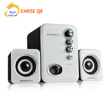 2017 upgrade best audio system EARISE Q8 HiFi Speakers desktop speaker multimedia mini computer speaker 2.1 subwoofer USB power