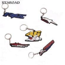 Moto Car PVC Keychain Rossi 46 VR46 4WD TRD Key Ring Key chain keyring For YAMAHA KAWASAKI SUZUKI HONDA Motorcycle Accessories(China)
