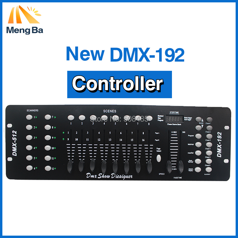 192 DMX Profession Controller Stage Lighting DJ equipment DMX 512 Console led par Moving Head light DJ Controller no microphone<br>