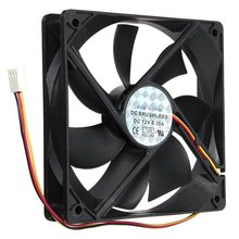 12V 3Pin 120mmx120mmx25mm Silen t Computer CPU Cooler Small Cooling Fan PC Black Heat Sink(China)