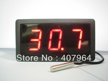 DC12V Powered Digital thermometer with NTC temperature probe