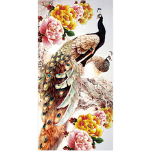 Rhinestone Painting Crystal Home Decor DIY Diamond Painting Embroidery Peacock 5D Cross Stitch Diamond Embroidery