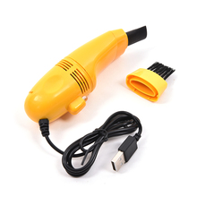 Mini USB Vacuum Cleaner Dust Collector Convenience Computer Desktop Keyboard Dust Cleaning Brush(China)
