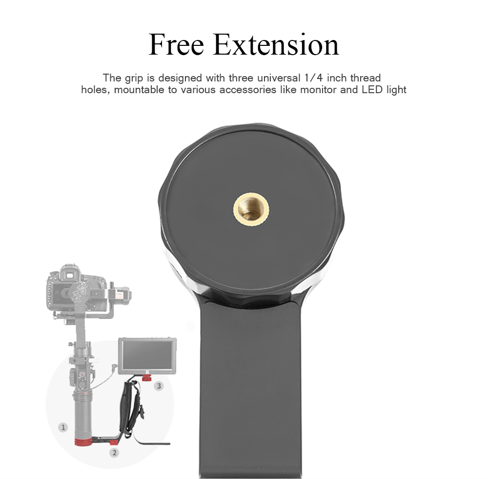 Zhiyun Crane 2 Gimbal Accessories L Bracket Mini Dual Grip Handle Holder with Hand Strap Free Extension 5
