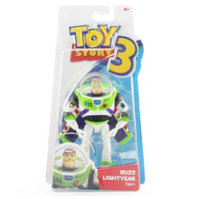"Free Shipping Toy Story 3 Buzz Lightyear with Wing PVC Action Figure Toy For Children Gifts 7""18cm(China)"