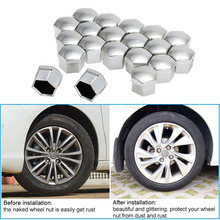 KKmoon Car Style Universal 17mm Car Wheel Chrome Plastic Nut Cover Bolt Cap for Cars(China)