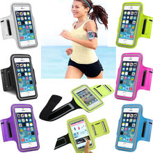 Waterproof Manual Sports Running Cover for iPhone 6s 5 5c 5s SE 6 7 Plus Gym Arm Band Nylon Case Sport Leather Skin Phone Cases(China)