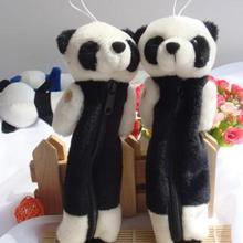 New Cute Creative Panda Plush Pencil Bag Plush Soft Toys Wallet Satchel Bag Stuffed Toy Good Quality