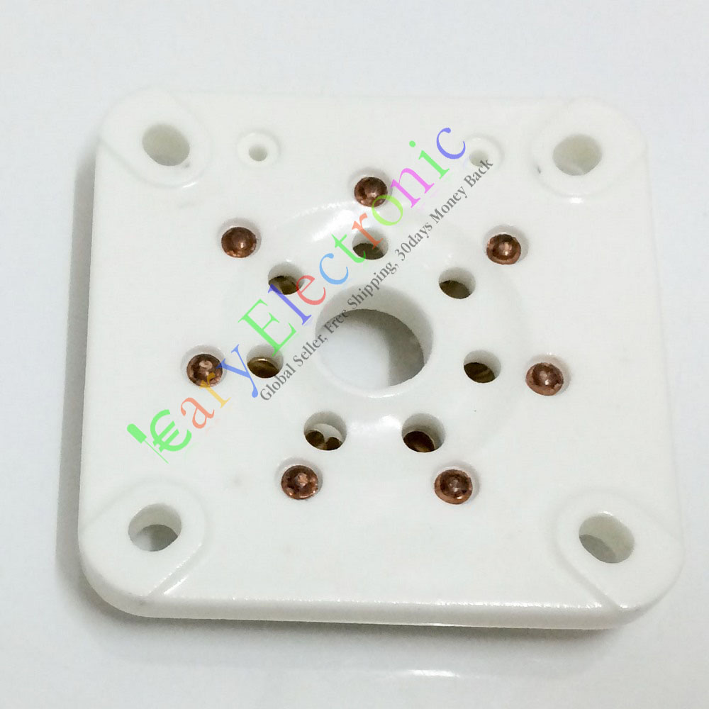 Wholesale and retail 8pc 7pin GOLD Ceramic vacuum tube socket valve 813 FU-13 4B27 5-125B 8001 amp free shipping<br>