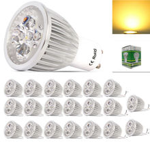 20x High power GU10 Dimmable LED lamp 220V 10W LED Spotlight Bulb Lamp warm cool white ceiling spot light free shipping