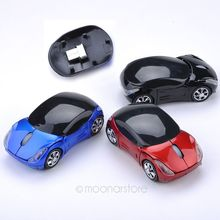 Laptop PC Computer Personality Car Shape 2.4GHz Souris Optique Voiture Style Receiver-free Wireless Mice USB 2.0 Optical Mouse(China)