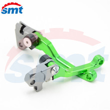 High Quality Motocross Off Road CNC Pivot Brake Clutch Levers Green For Kawasaki Kx 250f Kx 450 F 06 07 08 09 10 11 12 MT-8183