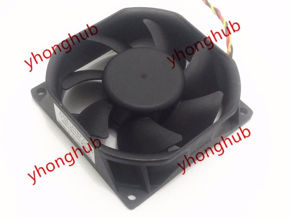 SUNON KDE1208PTV2 13.MS.B2500.AR.GN Server Square Cooling Fan DC 12V 2.8W 80x80x25mm 3-wire<br>