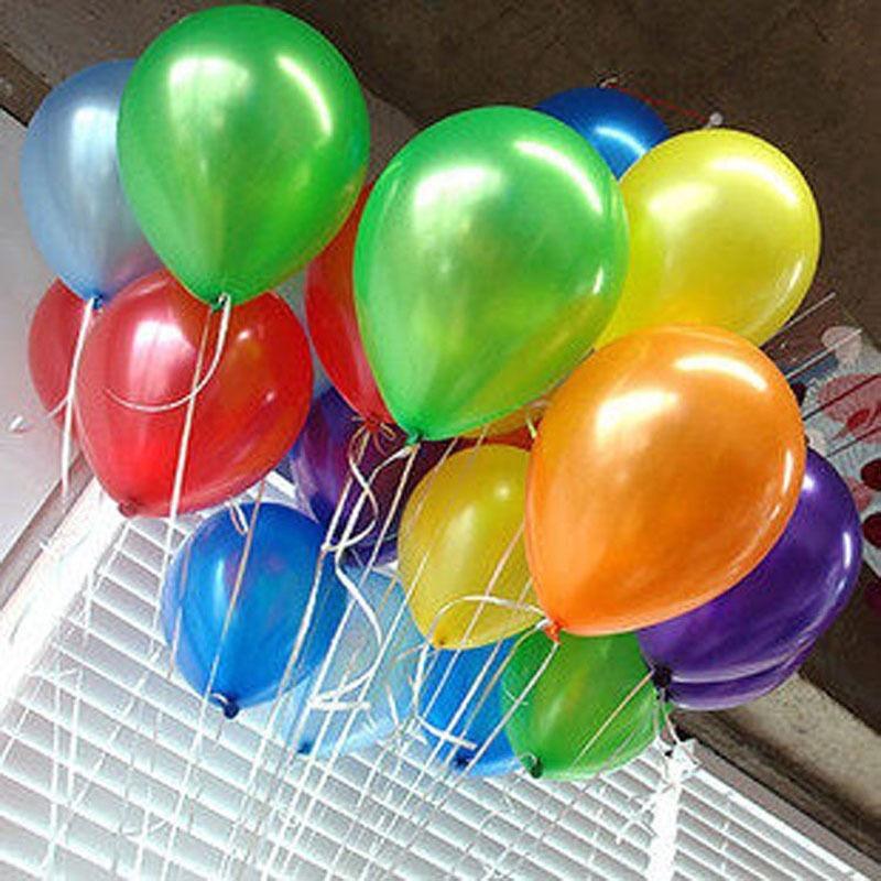 100Pcs 10inch Latex Helium Thickening Round Wedding Party Birthday Balloon