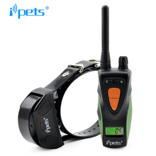 Ipets 617-1 New Waterproof pet dog products blue backlight LCD Display 800M remote training collar for dog