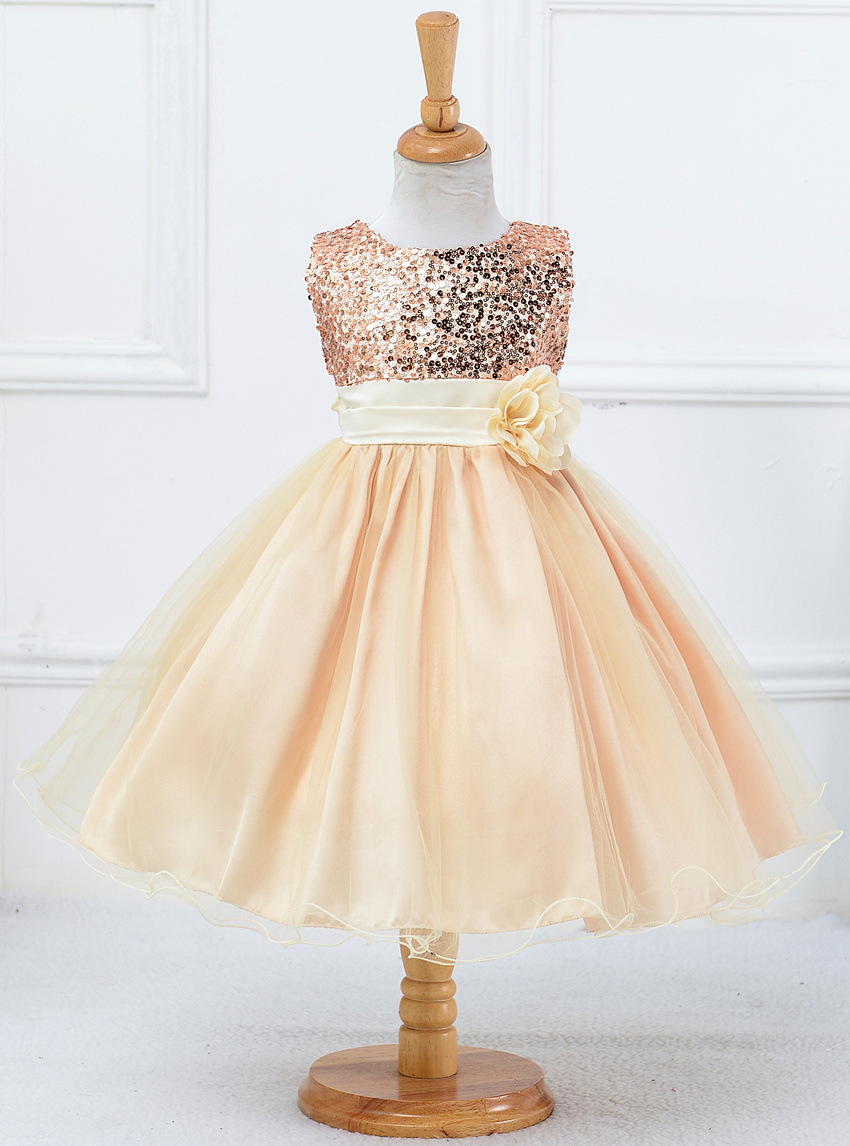 Child Kids Baby Girl Princess Dress Pearl Chiffon Party Pageant Ball Gown Dress