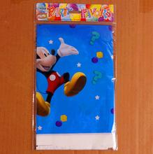108*188cm Kids Favors Baby Shower mickey  Cartoon Theme Happy Birthday Party tablecloth  Decoration Paper Supplies