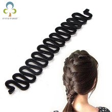 hair curler French Hair Roller clip With Hook Magic Twist Styling Braiding Tool Bun Maker hair style tools M4(China)