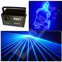 New Mini 2w Laser Light Show Blue 1400 Designs Stage Effect Party Lights Sound Active Laser Show System Disco Ball