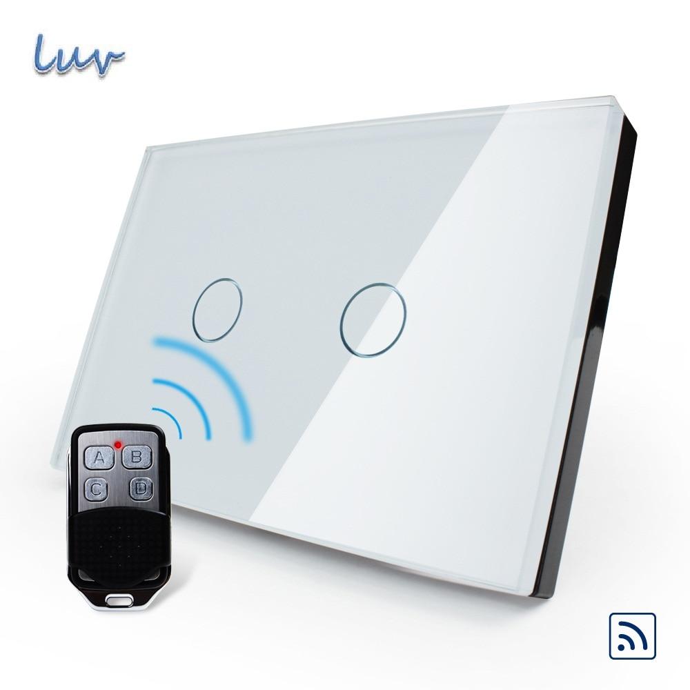 Smart Home, US/AU Standard, Smart Switch,VL-C302R-81VL-RMT-02, Waterproof Glass 2 Gang 1 Way Switch&amp;Mini Remote for Led Light<br>