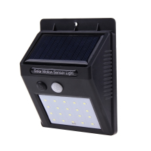 20 LED Solar Powered PIR Motion Sensor Wall Light Lamp Outdoor Waterproof Energy Saving Street Yard Path Garden Security Lights(China)