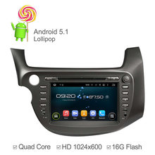 8 inch 1024*600 Android 5.1 A9 Quad core 1.6G Car DVD Player For Honda New Fit 2009 2010 2011 GPS Navigation Radio 16GB