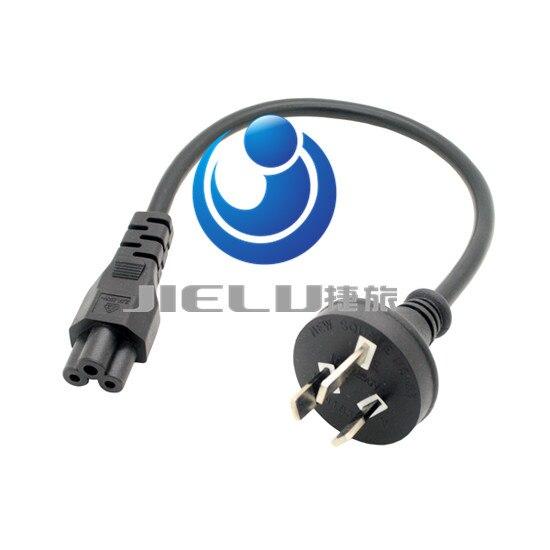 Australia GB 3PIn turn Mickey Mouse Power Cord 3 meters GB turn IEC C5 power line,10 pcs<br>