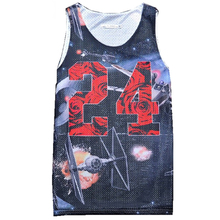 Brand Clothing Mens Tank Top Number 24 Space Satellite 3D Mesh Vest Fitness Casual Sleeveless Tops Bodybuilding(China)