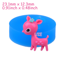 DYL347U 23.1mm Deer Silicone Mold - Animal Mold Gum Paste, Food Grade, Resin, Fondant, Candy Making Polymer Clay Chocolate Mold