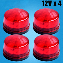 Wired Strobe Siren 12V 24V 220V Signal Warning Light Flash Siren LED Lamp Highlight Alarm Lamp for Alarm Systems Security Home(China)