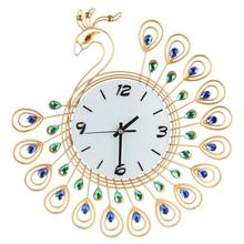 D3 Vintage Style Peacock Antique Wall Clock for Home Kitchen Office levert jun29