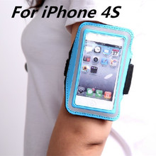 HOT Waterproof Genernal Style PU Leather Case For apple iphone 4s Running Arm Band For iphone4 Cell Phone Cases(China)