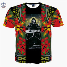 Mr.1991INC&Miss.GO Summer New Men/Women 3D Printing Jesus T Shirt Prayer Blessing Flowers Printing Apparel Tops Tees