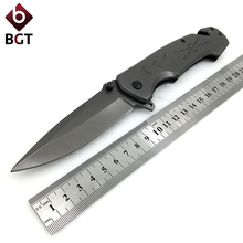 BGT Tactical Folding Pocket Knife Steel + Wood Handle Combat Hunting Camping Titanium Knives Survival EDC Multi Tools