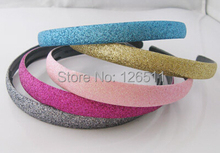 glitter headbands for women hairbands Alice band Hair Band Headwear Coiffure 1.2cm(China)