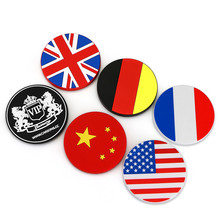 20 Pieces China France America England Germany Flag JP VIP Skull Silicon Anti Slip Mats Car Magic Sticky Mat for Cup Storage Box
