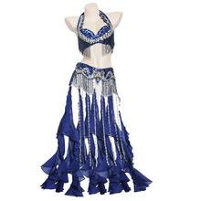 New Women's belly dance set costume belly dancing clothes Sexy Night dance bellydance Carnival Tops Chain BRA Belt 2680