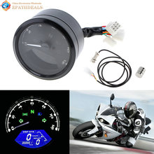 CS-363 12000RPM LCD Motorcycle Digital Tachometer Speedometer Odometer Gauge for Motorbike Scooter Golf Carts ATV(China)