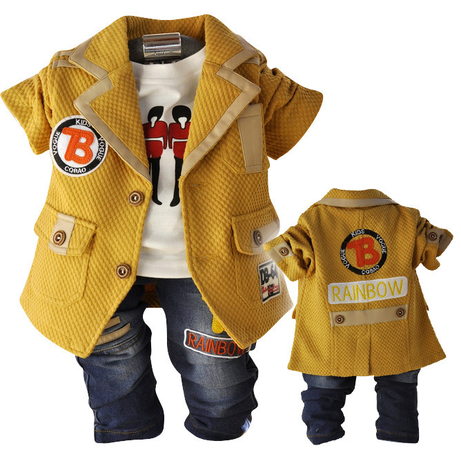 Anlencool 2017 Free shipping  Spring Valley posture infants models new European style leisure suits boy suit baby clothing<br><br>Aliexpress