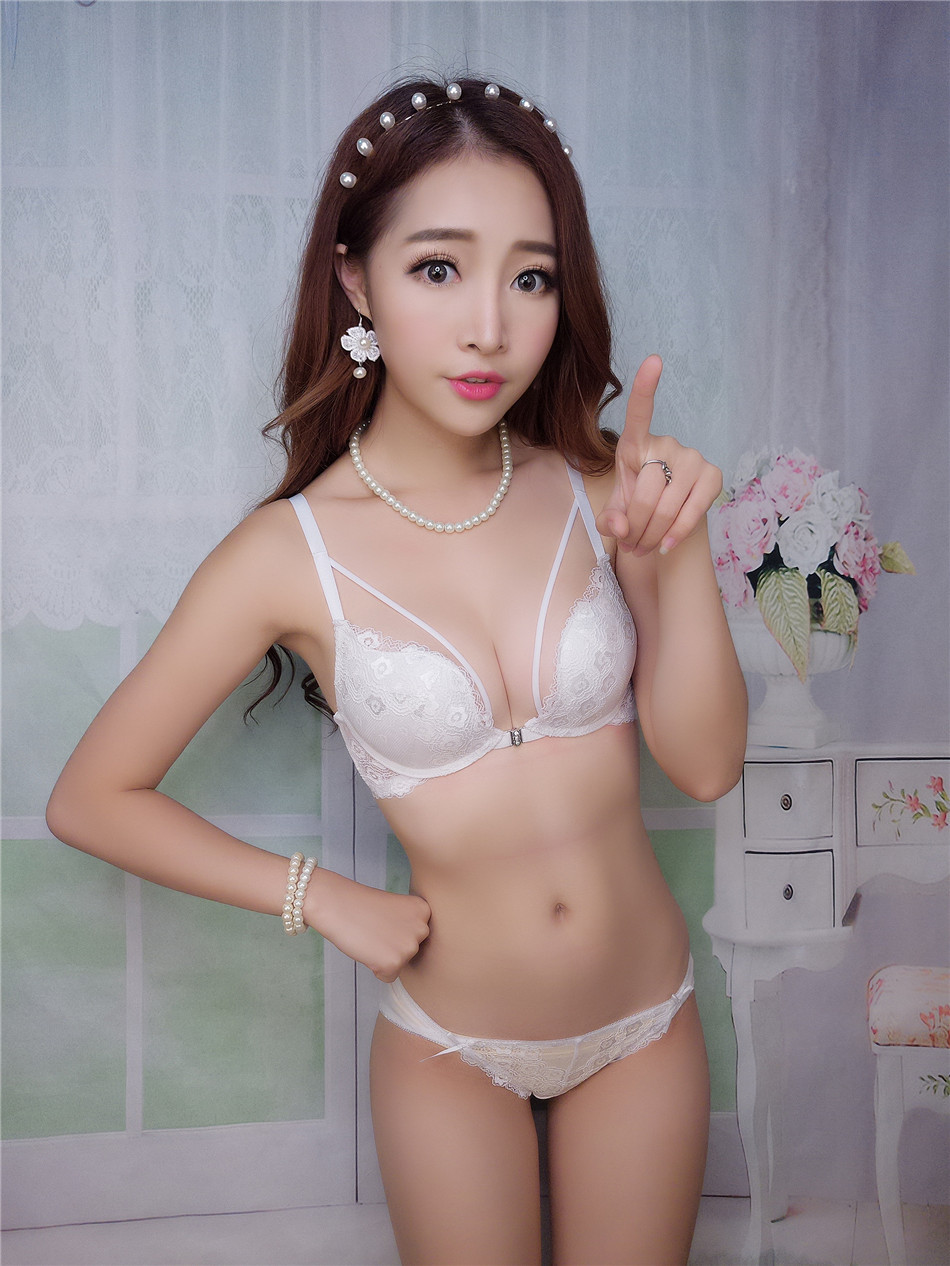 17 new fastion women bra set push up deep v front closure sexy lingerie women underwear sets 5