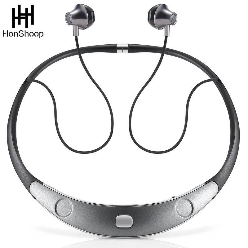 Bluetooth Headset Call Vibrate Alert HiFi Wireless Neckband Headphones Stereo Noise Reduction Earbuds Bluetooth earphone<br>