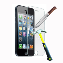 9h Tempered Glass Protective Film For Apple for Iphone 4 4s 5 5c 5s 6 6plus 6s 7 7Plus Mobile Phone Screen Protector Cover+Clean