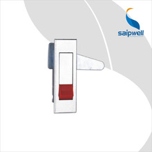 Cabinet Plane Lock / Light Finish Zinc Alloy Cabinet Door Lock For Distribution Box With Push Button (SP-MS603-2-2)