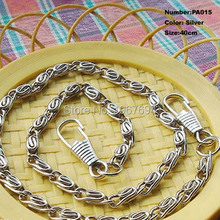 Free Shipping PA015 1pcs Purse Frame Hanger Chain 40cm Silver Metal Clasps Purses Accessories Handles Handbags Diy Bag Parts