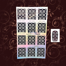 1PC Sexy Glitter Flower Grid Nail Foils Airbrush Polish Template Nail Decals PJV210 Easy Use Nail Vinyls Ultra thin Conseils Tip