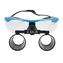 Dental Loupes 2.5X-R Surgical Glasses with LED Head Light Lamp Surgical Dentists Magnifier